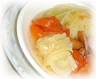 きゃべつとトマトのジョイントスープ